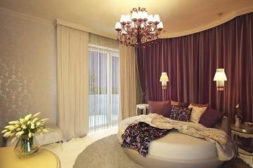 Дизайн спальни с круглой кроватью Хабаровск