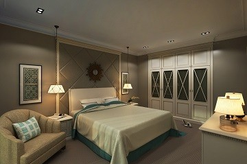 Интерьер спальной комнаты Хабаровск Шик