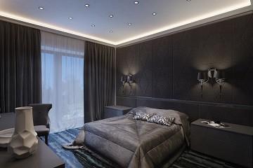 Спальная комната в стиле ар деко