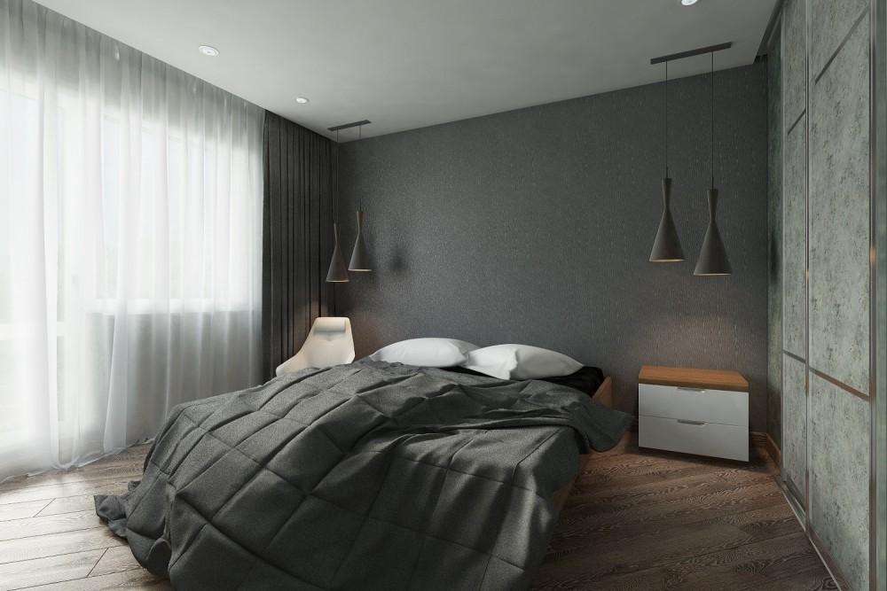 Дизайн спальни минимализм Хабаровск