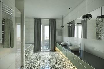 Дизайн ванной с окном Хабаровск