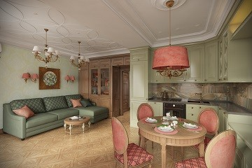Кухня - гостиная Дизайн в Хабаровске