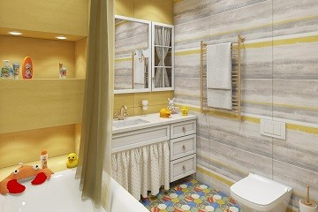 Дизайн ванной для детей