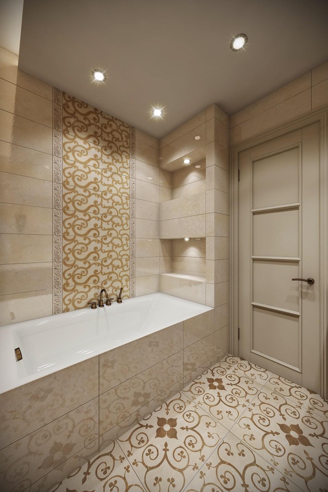 Дизайн ванны в классическом стиле Москва