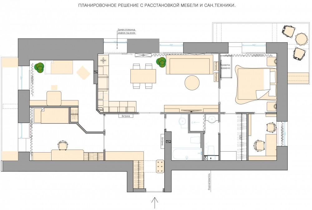 План квартиры Амурский бульвар Хабаровск