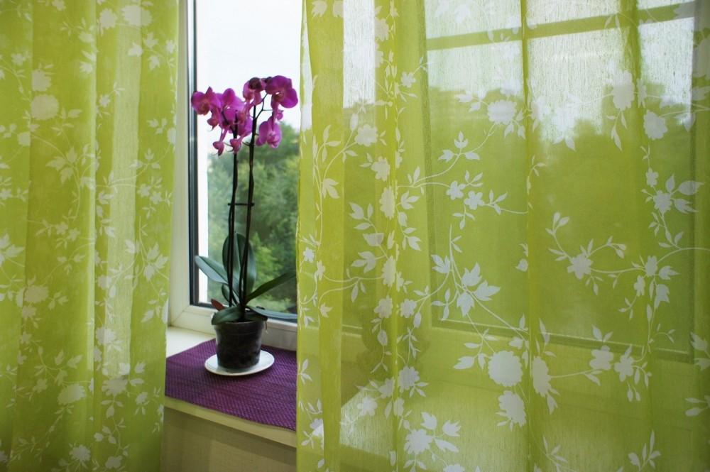 Зеленые шторы Хабаровск