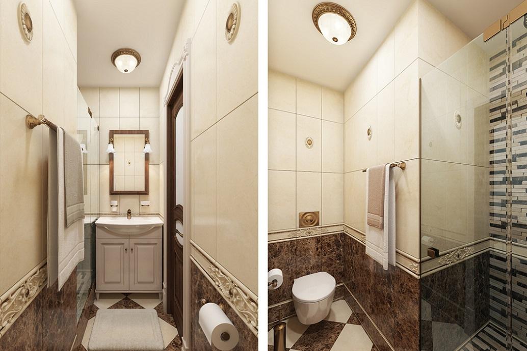 Дизайн маленькой ванной в Хабаровске