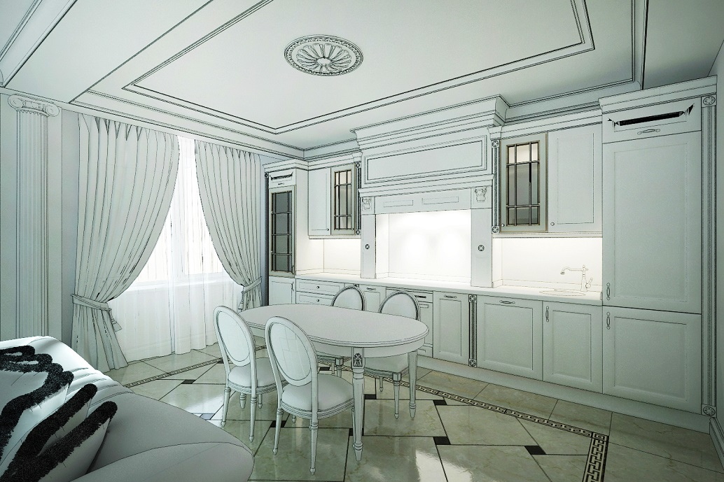 Эскиз кухни Хабаровск