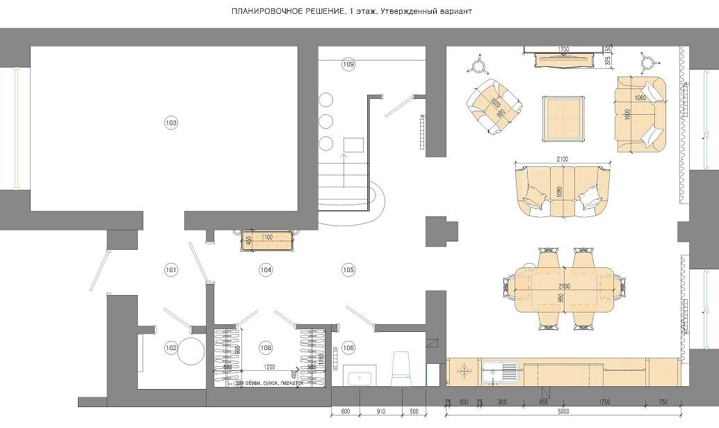 План дома Лукашово 1 этаж Хабаровск