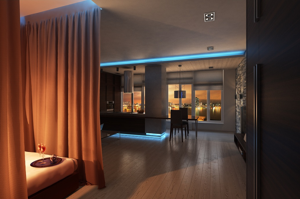 Дизайн для однокомнатной квартиры для двоих