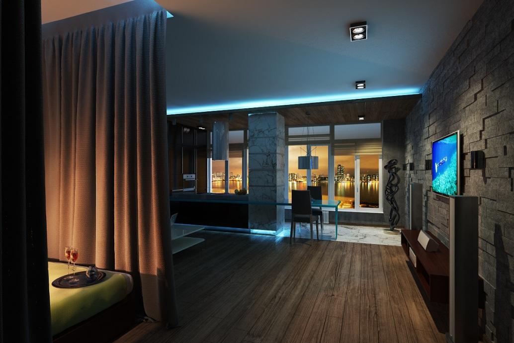 Стильный дизайн квартиры Хабаровск