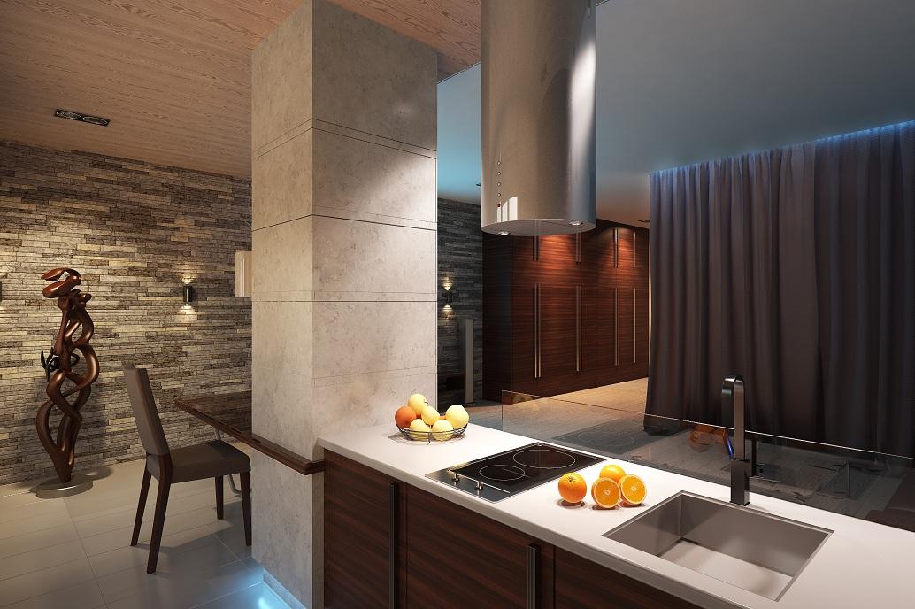 Дизайн открытой кухни Хабаровск