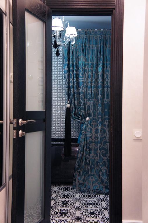 Дизайн интерьера ванной комнаты в Хабаровске заказать. Штора для ванной комнаты
