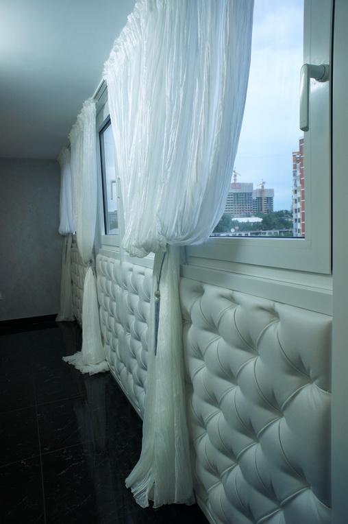 Дизайн лоджии для сушки белья и гладильной доски
