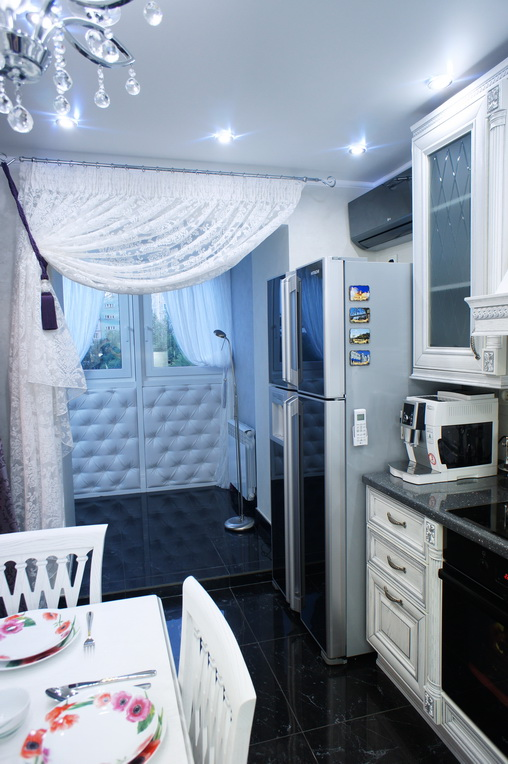 Дизайн кухни. Холодильник Side-by-side - обязательно учитываем градус открывания дверцы