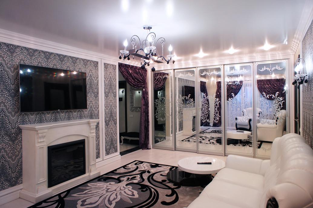 Дизайн гостиной в двухомнатной квартире в Хабаровске