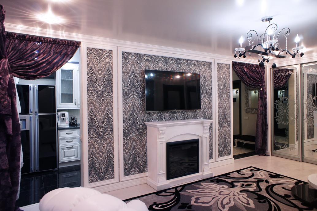 Интерьер гостиной в двухкомнатной квартире в Хабаровске
