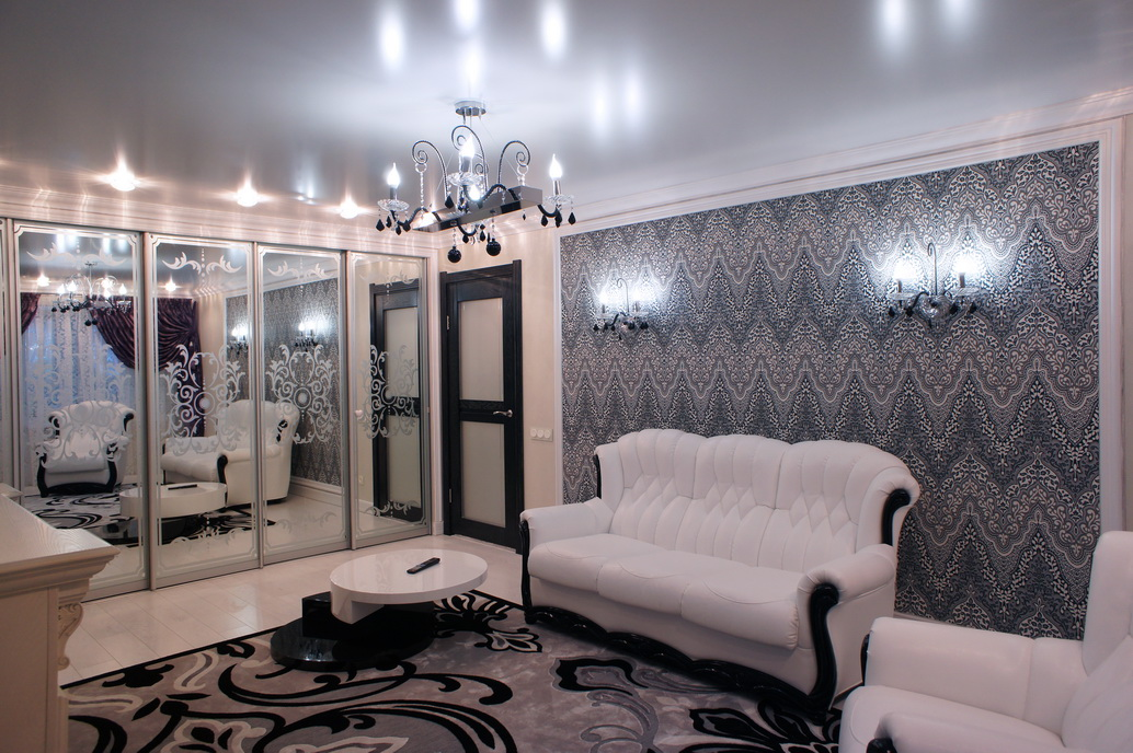 Дизайн интерьера гостиной в двухкомнатной квартире