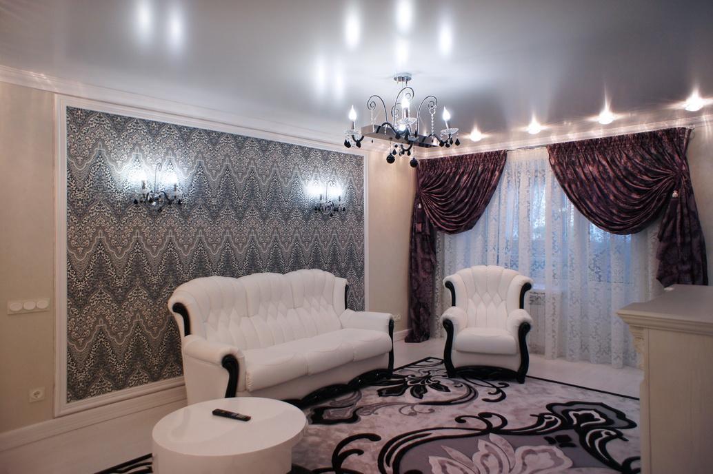 Дизайн интерьера гостиной в двухкомнатной квартире по ул. Войкова