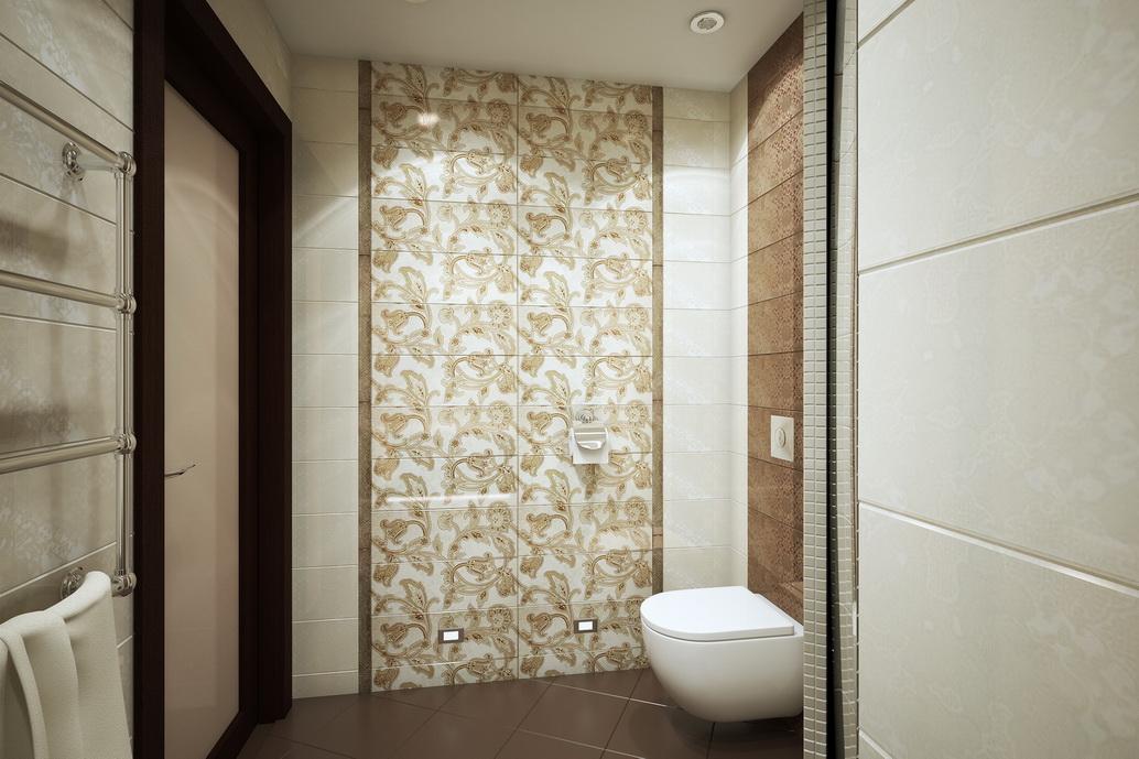 Дизайн ванной комнаты. Душевая. Вид 2. Интерьер квартиры по ул. Серышева в Хабаровске