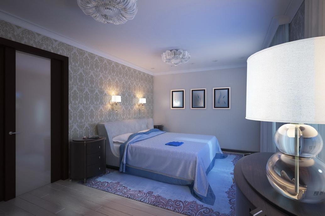 Дизайн спальни. Вид 4. Интерьер квартиры по ул. Серышева Хабаровск