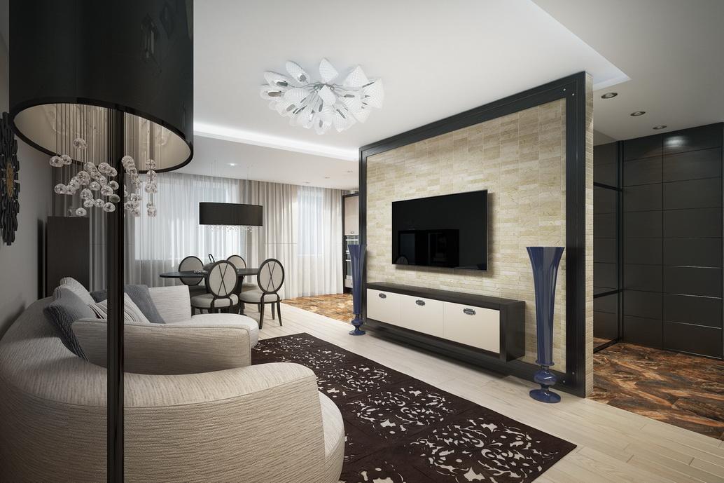 Дизайн интерьера квартиры по ул. Серышева в Хабаровске