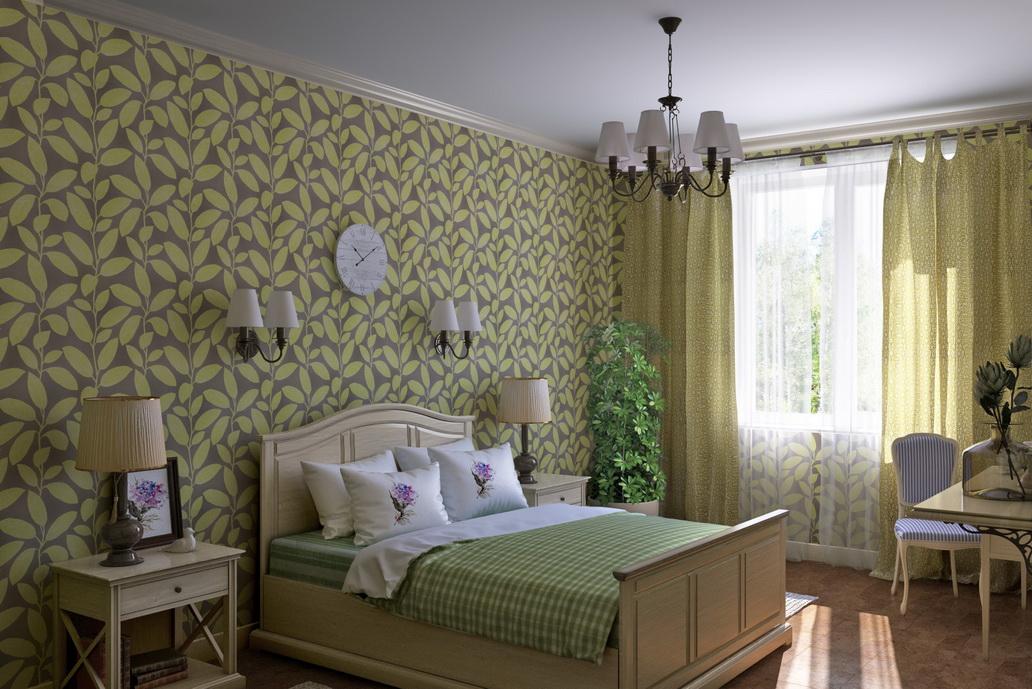 Дизайн спальни в стиле Кантри. Комната для гостей. Студия дизайна в Хабаровске Адрес