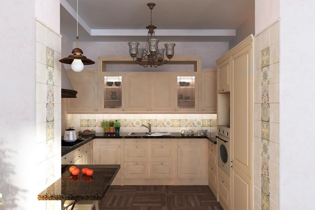 Дизайн кухни в Хабаровске. Интерьеры в стиле Кантри. Кухня Кантри. Встроенный холодильник
