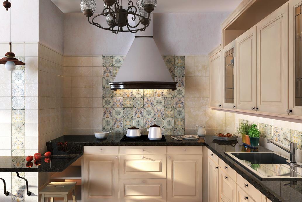 Кухня в стиле Кантри в Хабаровске. Заказать дизайн интерьеров в Хабаровске.