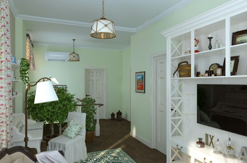 Загородный дом. Интерьер загородного дома 2 этажа. Дизайн интерьеров в Хабаровске
