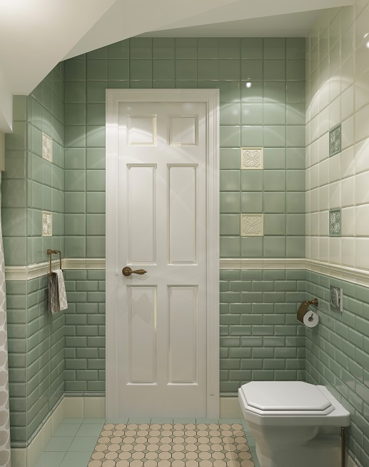 Дизайнер интерьеров в Хабаровске. Заказать дизайн дома. Туалет под лестницей.