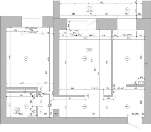 Дизайн проект интерьера двухкомнатной квартиры в Хабаровске. План квартиры
