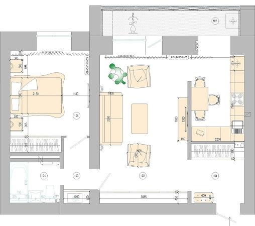 План Интерьер квартиры в Хабаровске