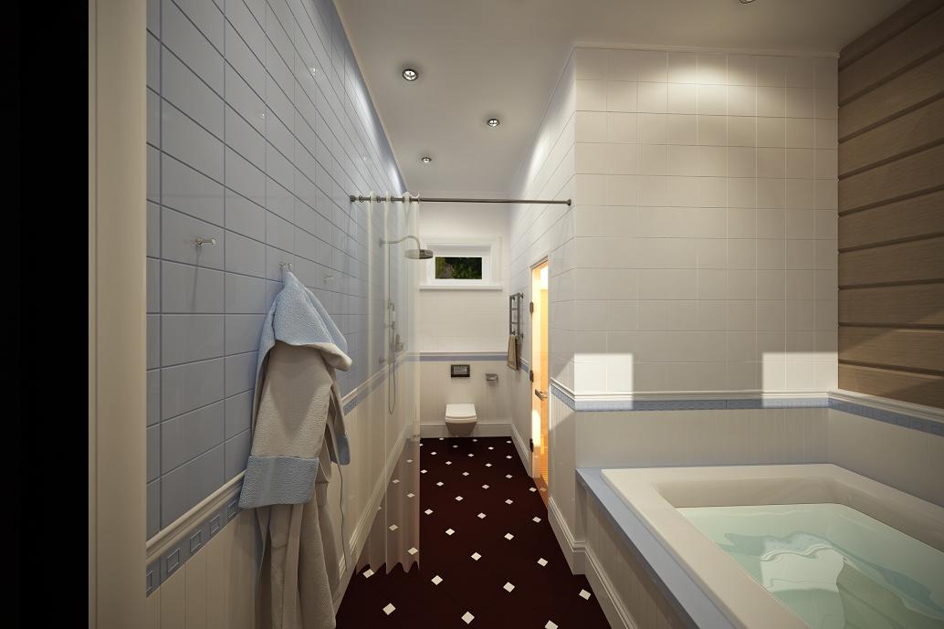 Дизайн ванной в деревянном доме Хабаровск