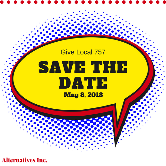 Save the Date Give Local 757 2018 Red