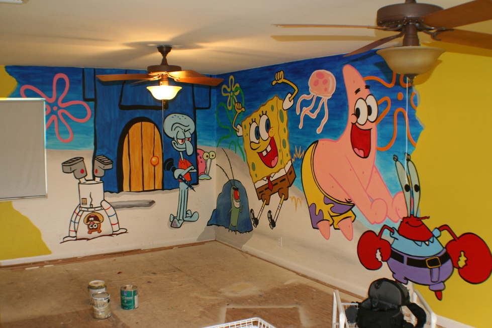 Sponge Bob Playroom Mural