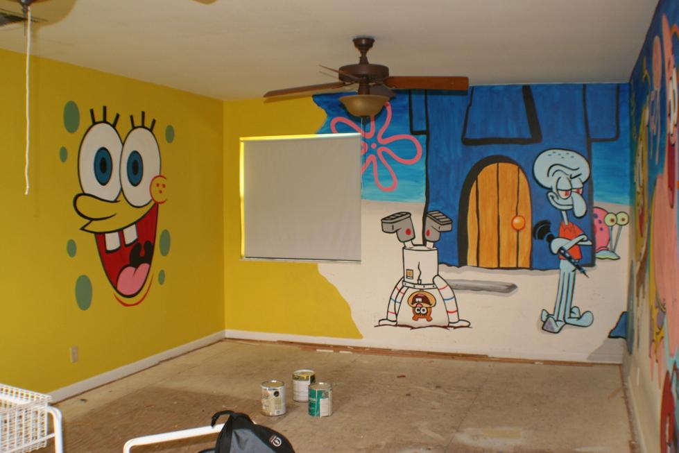 Sponge Bob Playroom Mural