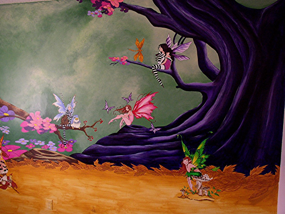 Fairies In The Woods Mural