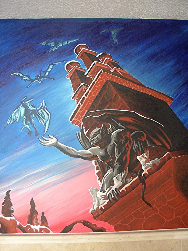 Gargoyle Bathroom Mural