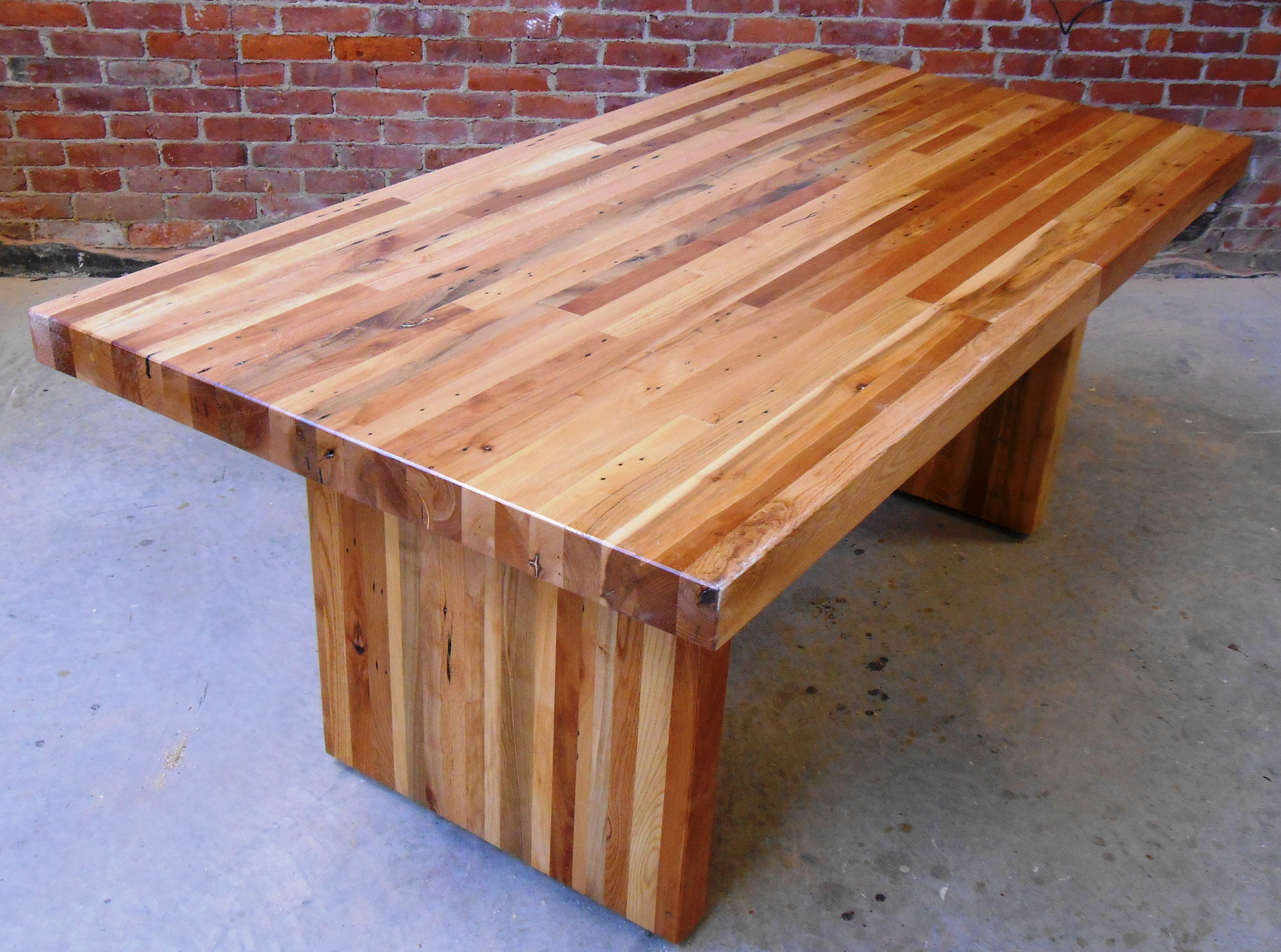 "6' x 36"" mixed pallet wood contemporary farm table"