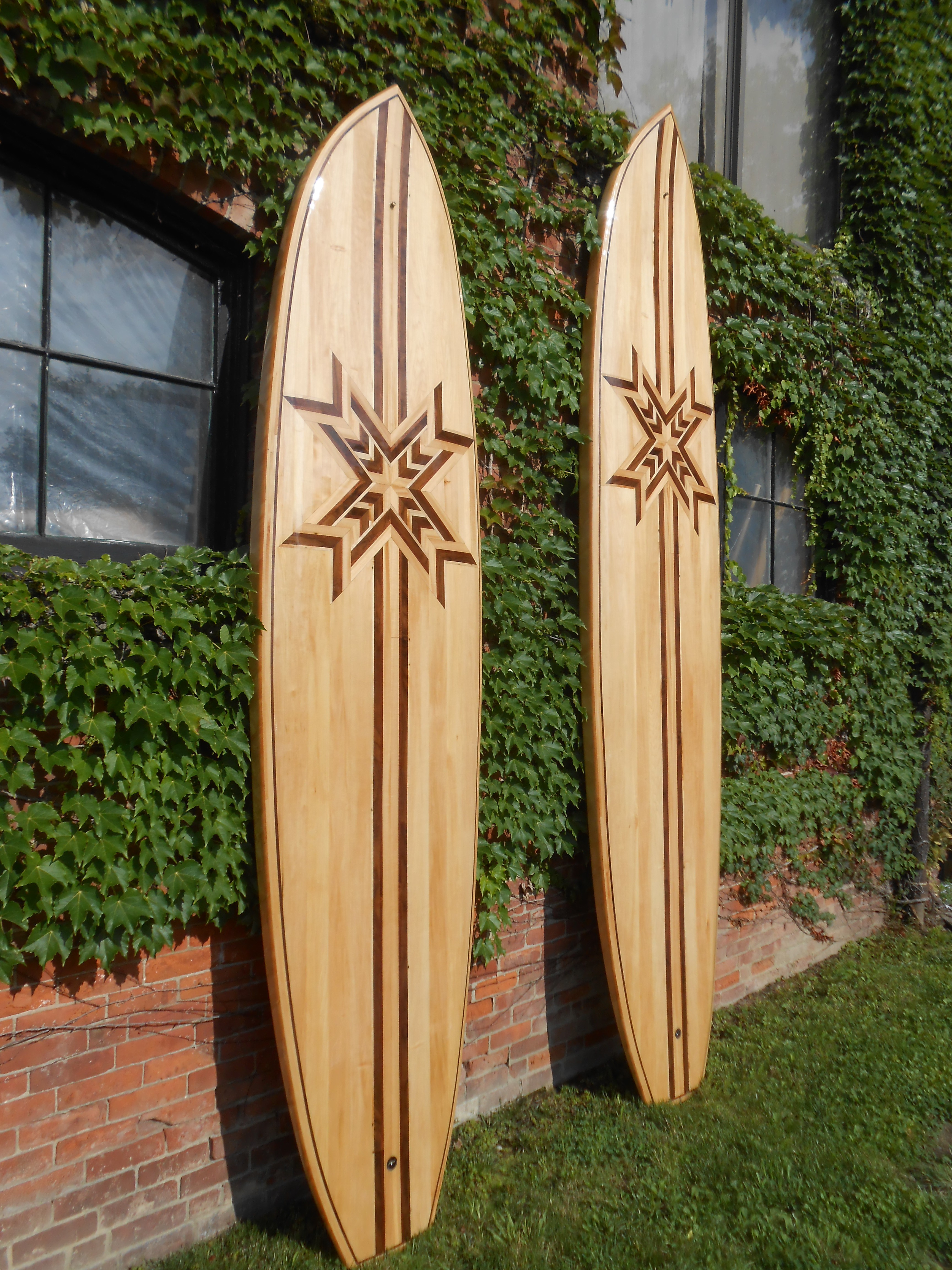 10' - 12' wood paddle boards
