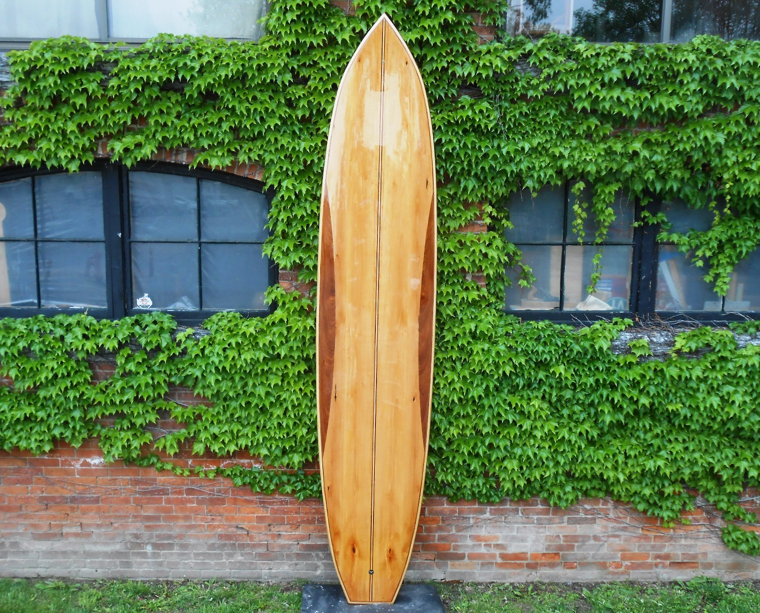 12' Wood stand up paddle board - bass and sapele tao woodworking 004