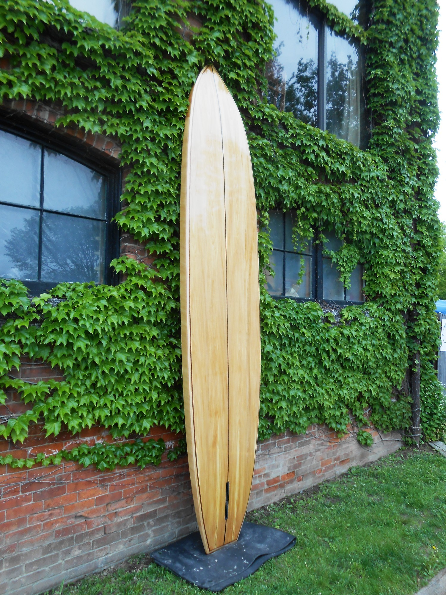 12' Wood stand up paddle board - bass and sapele tao woodworking 005