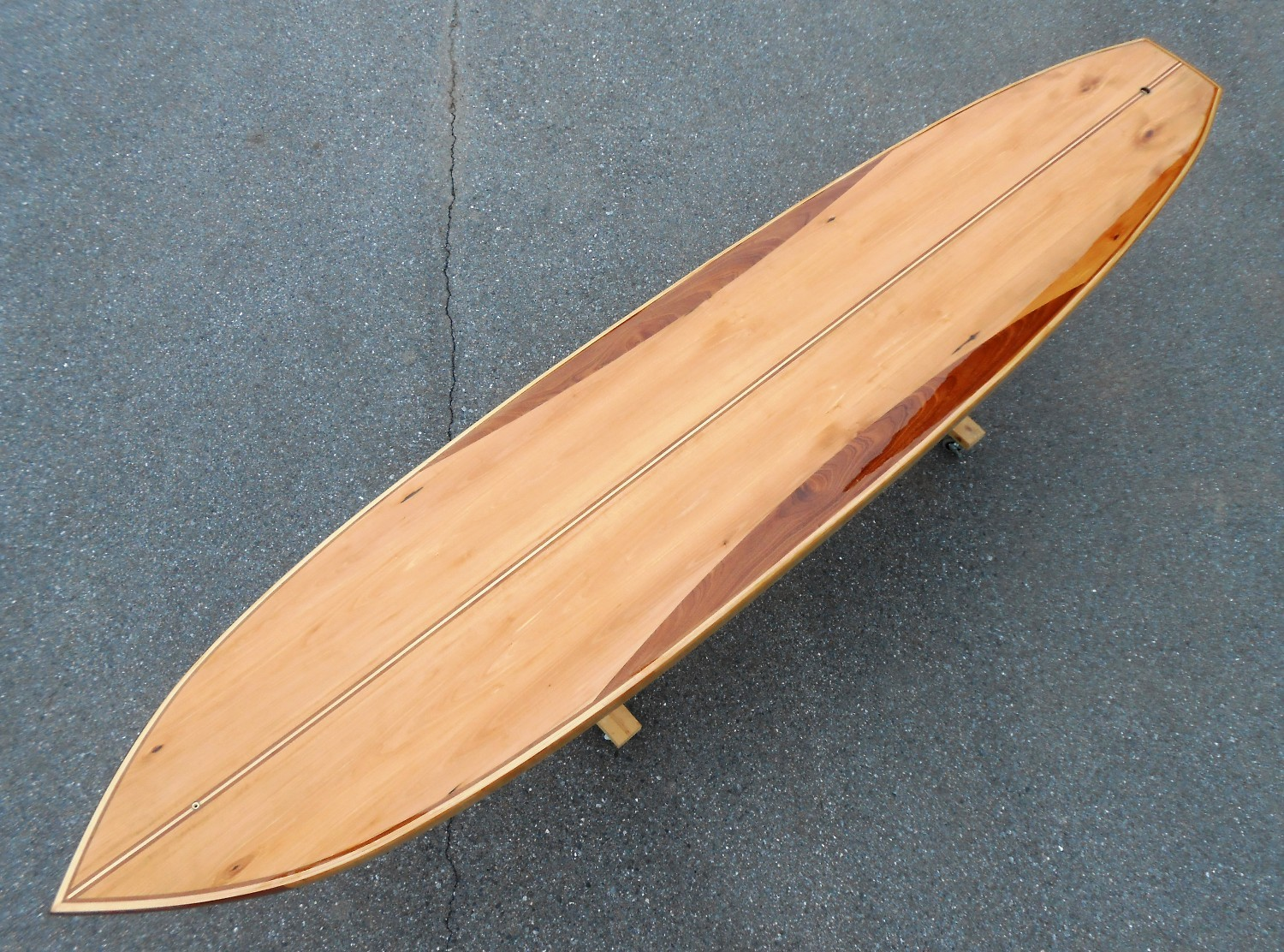 12' Wood stand up paddle board - bass and sapele tao woodworking 006