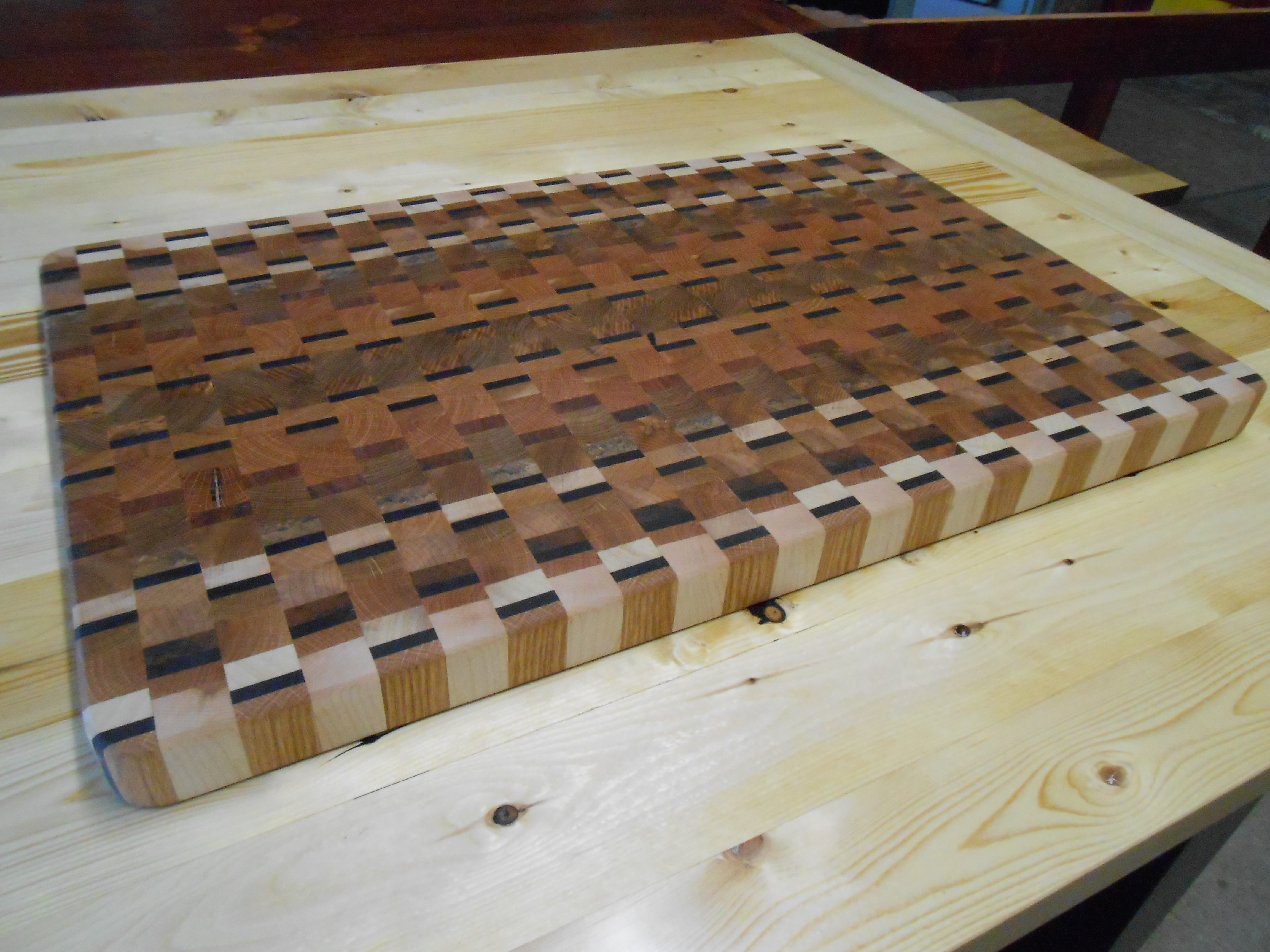 Reclaimed End Grain Cutting Board