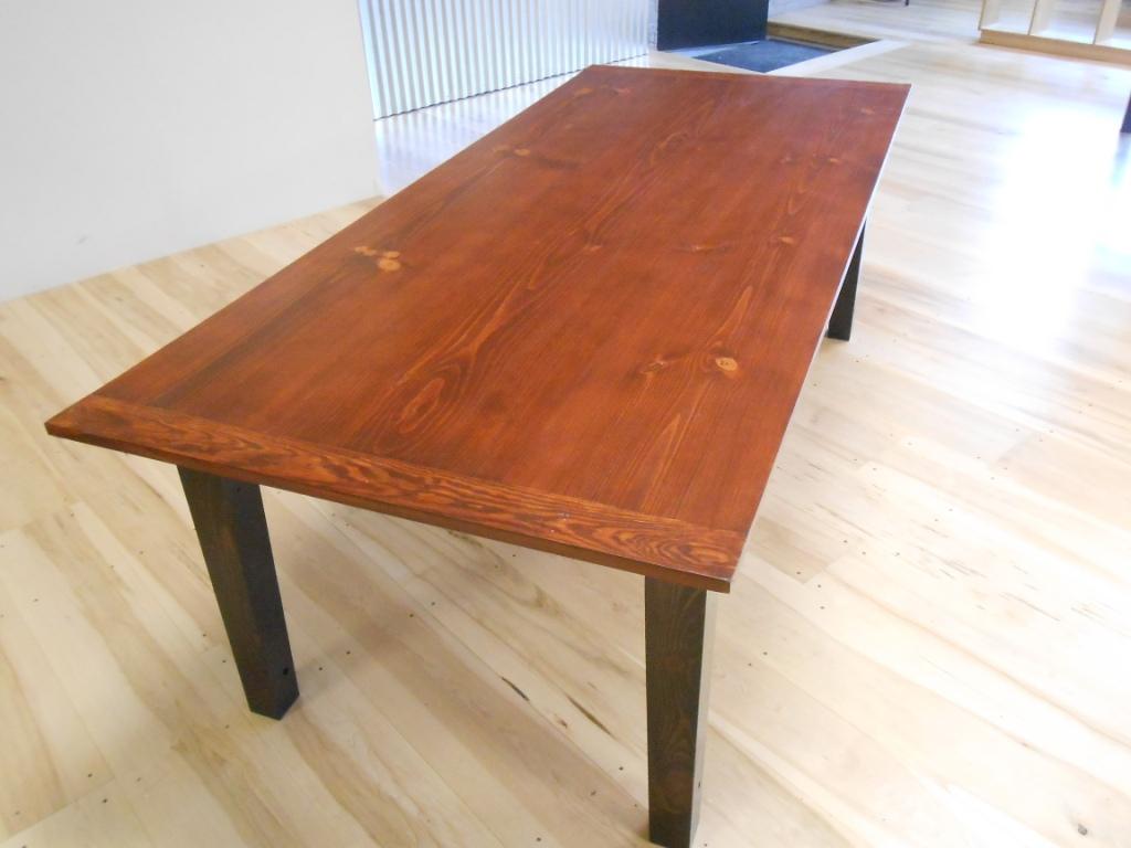 wide board reclaimed wood table