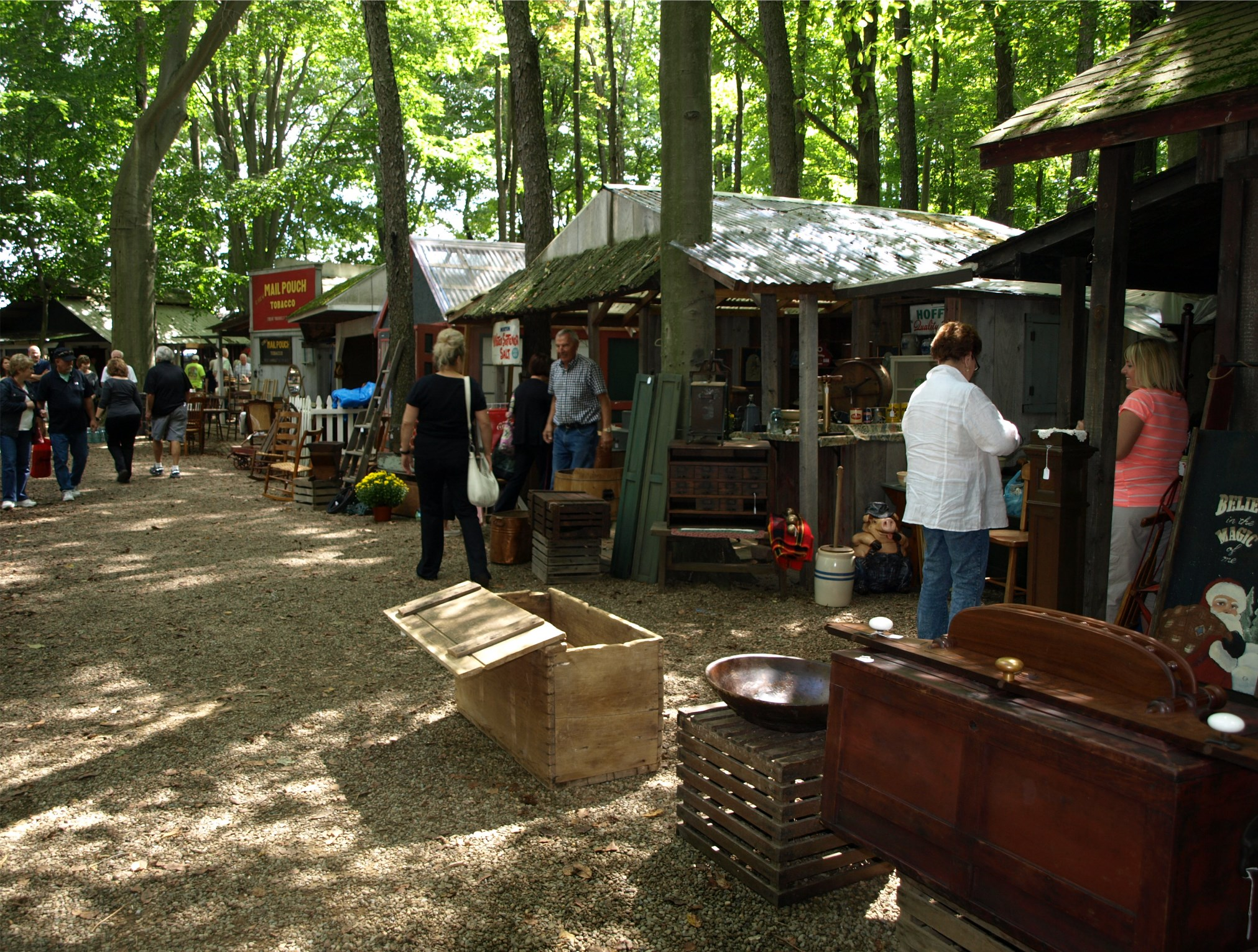 Shaker Woods Christmas In The Woods.Antiques In The Woods Antique Show