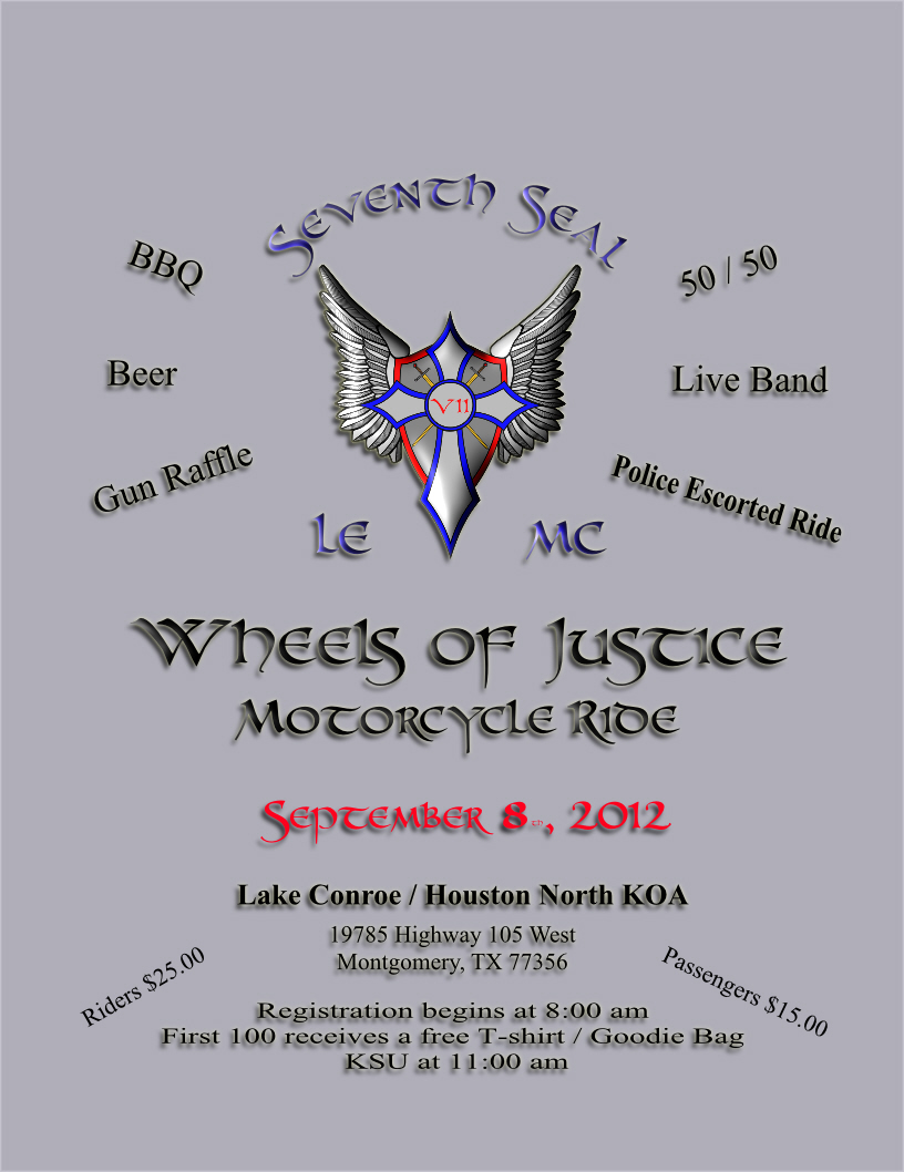 Seventh Seal LEMC's 1st Annual Texas Wheels of Justice Motorcycle Ride