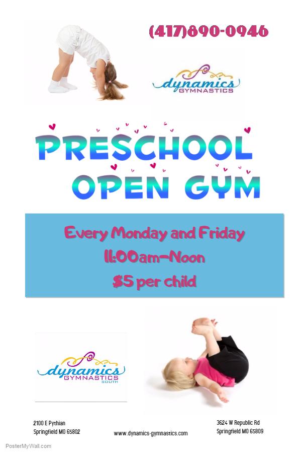 preschool open gym flyer1-16