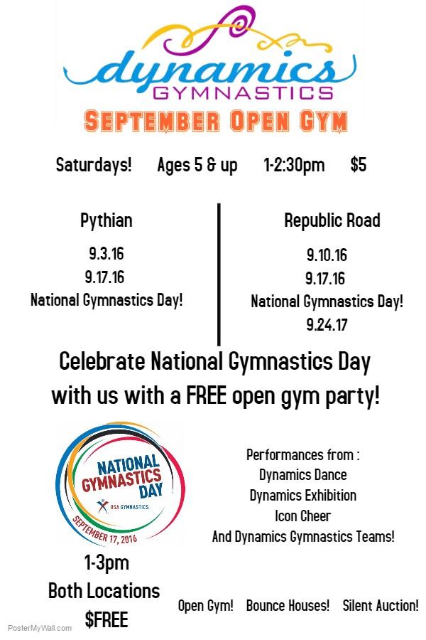 September 16 Open Gym